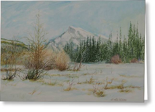 Mount Rundle In Winter Greeting Card