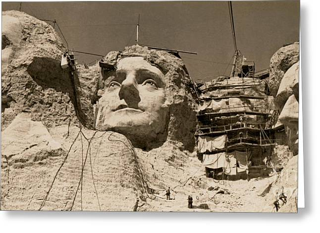 Mount Rushmore Construction  Greeting Card by American School