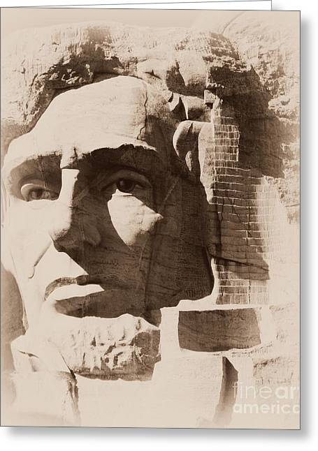 Mount Rushmore Faces Lincoln Greeting Card