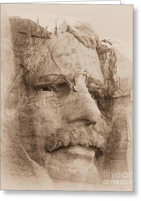Mount Rushmore Faces Roosevelt Greeting Card