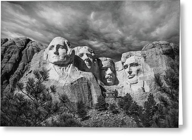 Mount Rushmore II Greeting Card by Tom Mc Nemar