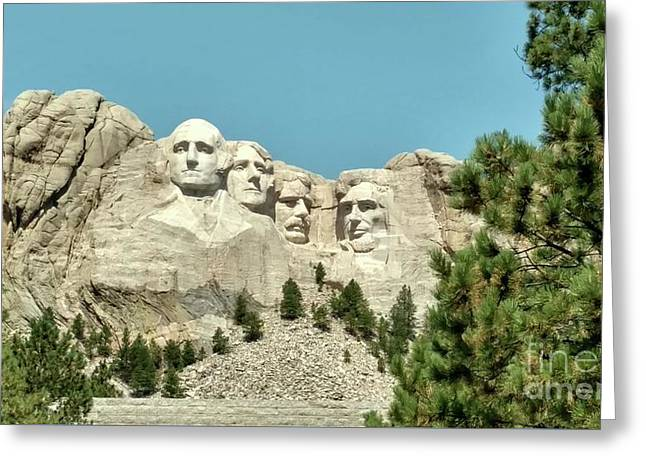Mount Rushmore Greeting Card by Kevin Croitz