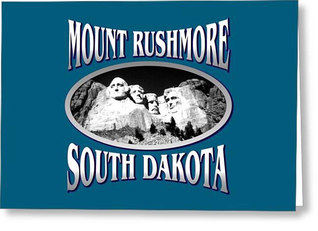Mount Rushmore South Dakota - Tshirt Design Greeting Card by Art America Gallery Peter Potter