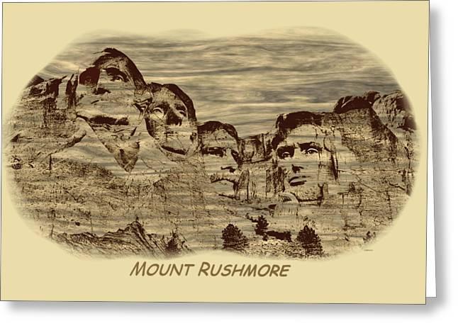 Mount Rushmore Woodburning 2 Greeting Card by John M Bailey