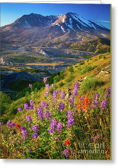 Mount Saint Helens Caldera Greeting Card