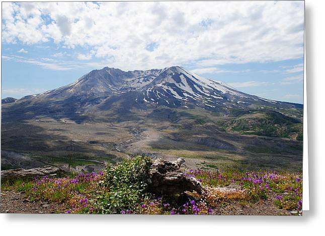 Greeting Card featuring the photograph Mount Saint Helens by Robert  Moss