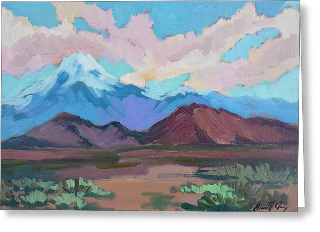 Greeting Card featuring the painting Mount San Gorgonio by Diane McClary