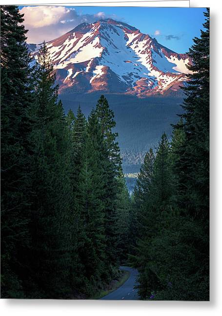 Mount Shasta - A Roadside View Greeting Card