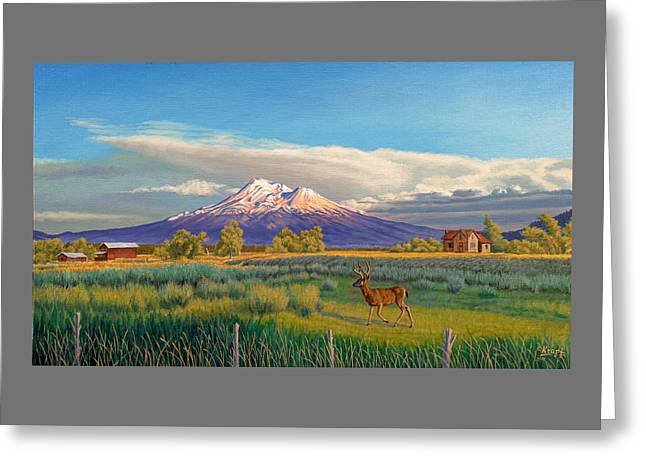 Mount Shasta Greeting Card by Paul Krapf