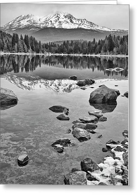 Mount Shasta Reflection Greeting Card