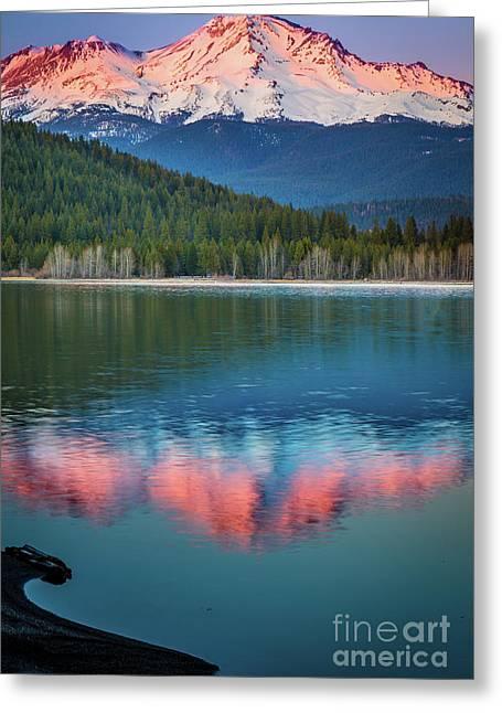 Mount Shasta Sunset Greeting Card
