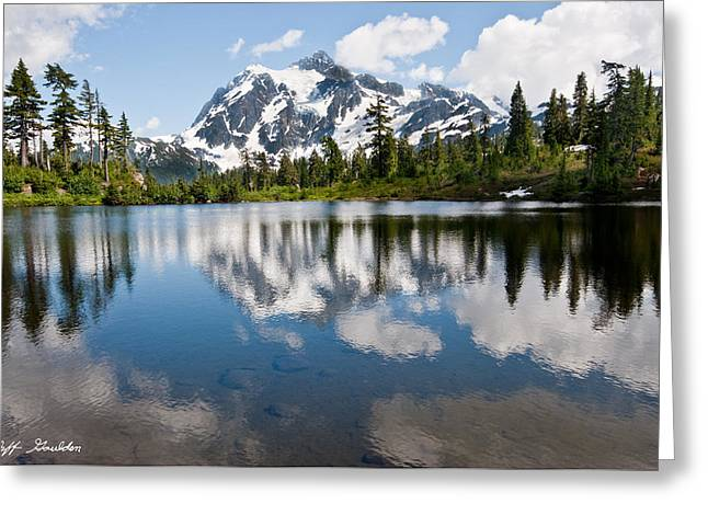 Mount Shuksan Reflected In Picture Lake Greeting Card