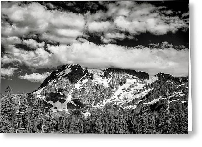 Greeting Card featuring the photograph Mount Shuksan Under Clouds by Jon Glaser