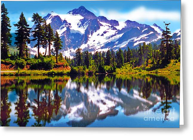 Mount Shuksan Washington Greeting Card by Laura Brightwood