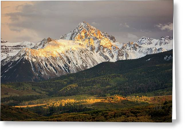 Mount Sneffels Sunset Greeting Card