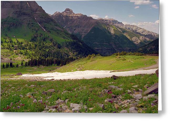 Scenic Drive Greeting Cards - Mount Sneffels Greeting Card by Crystal Garner