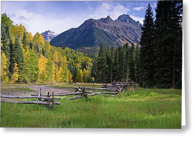 Mount Sneffels In Autumnn Greeting Card