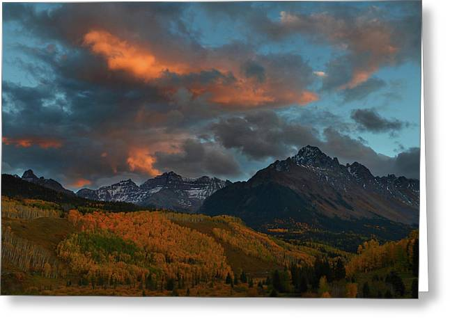 Greeting Card featuring the photograph Mount Sneffels Sunset During Autumn In Colorado by Jetson Nguyen