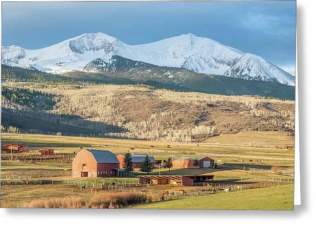 Mount Sopris Sunrise Greeting Card by Eric Glaser