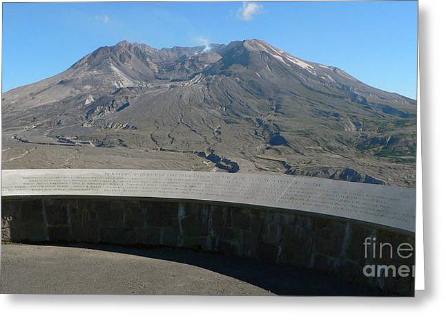 Greeting Card featuring the photograph Mount St. Helen Memorial by Larry Keahey