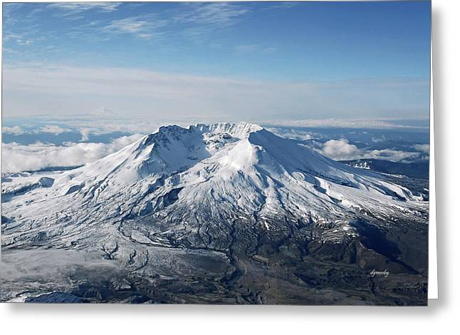 Mount St. Helens 0005 Greeting Card by David Mosby