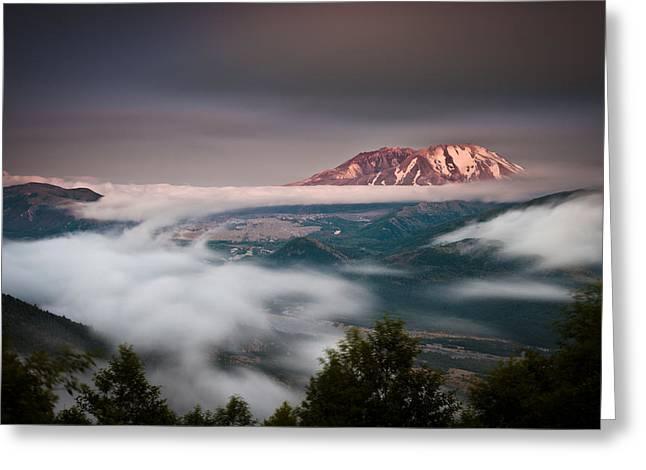Mount St Helens Twilight Greeting Card