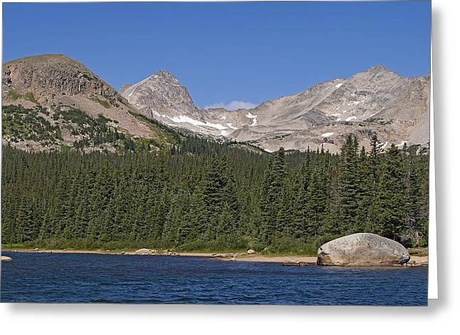 Mount Toll At Center Left From Brainard Lake In The Indian Peaks Wilderness Colorado Greeting Card