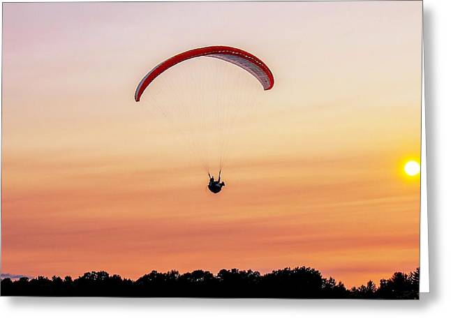 Mount Tom Parachute Greeting Card