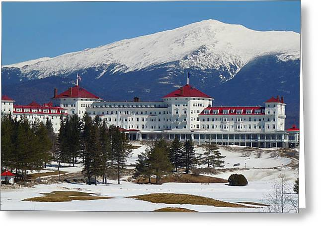 Mount Washington Hotel In Early Spring Greeting Card