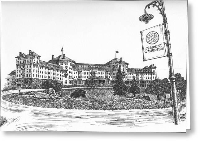 Mount Washington Hotel Number One Greeting Card