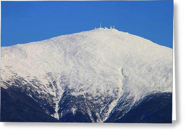Mount Washington Summit And Weather Observatory Greeting Card by John Burk