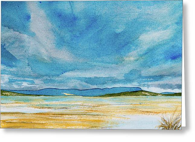 View Of Mount Wellington From South Bruny Island Greeting Card