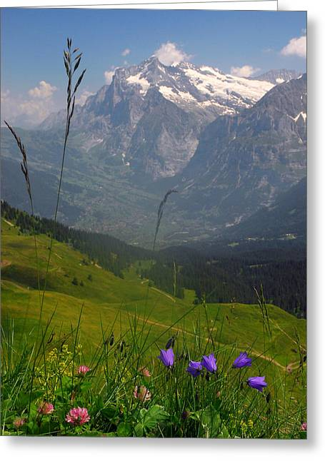 Mount Wetterhorn And The Grindelwald Greeting Card