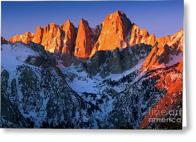 Mount Whitney Greeting Card by Inge Johnsson