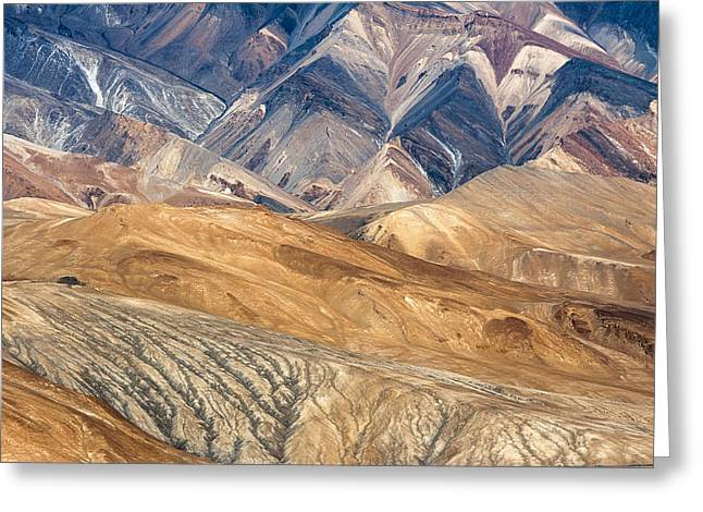 Mountain Abstract 4 Greeting Card by Hitendra SINKAR