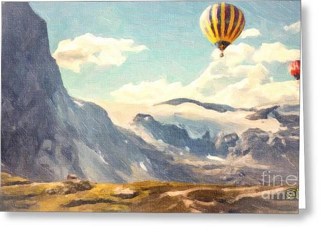 Mountain Air Balloons Greeting Card