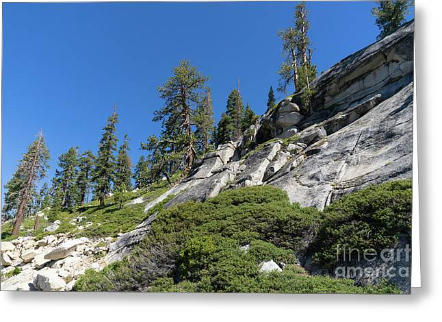 Mountain Along Tioga Pass Yosemite California Dsc04218 Greeting Card by Wingsdomain Art and Photography