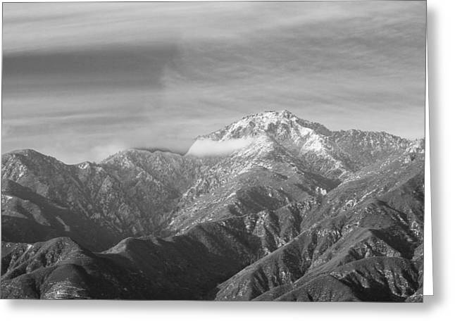 Mountain And Clouds Greeting Card