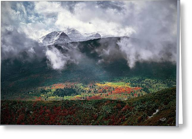 Mountain Autumn Greeting Card by Leland D Howard
