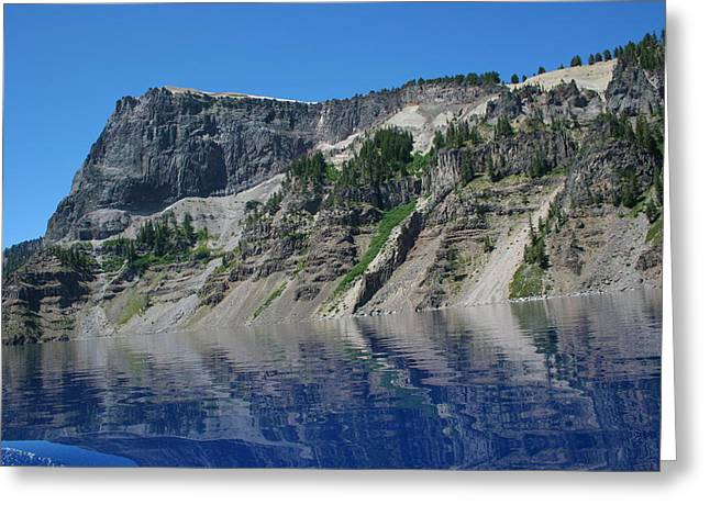 Greeting Card featuring the photograph Mountain Blue by Laddie Halupa