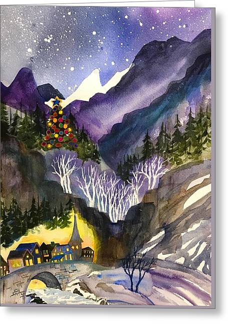 Mountain Christmas Greeting Card