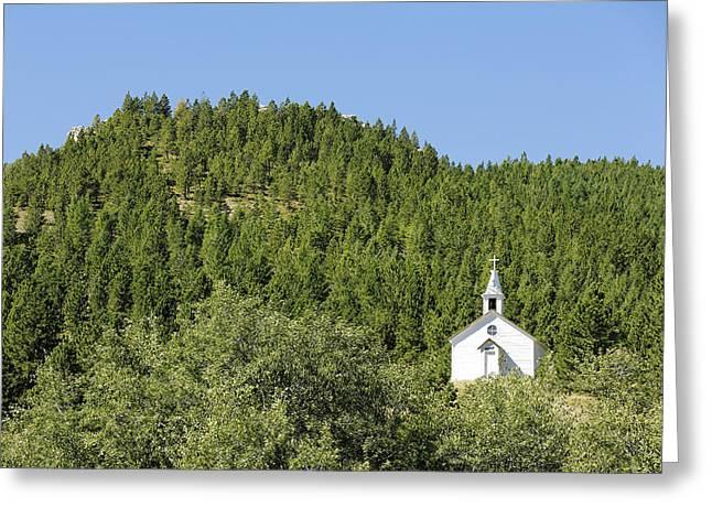 Mountain Church Greeting Card