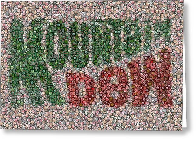 Mountain Dew Bottle Cap Mosaic Greeting Card