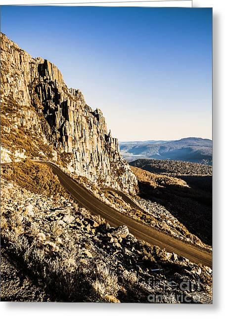 Mountain Drive Greeting Card