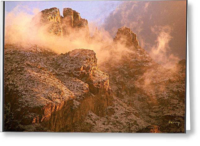Mountain Dusting Greeting Card