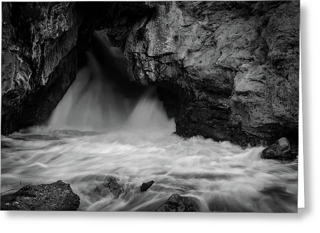 Mountain Falls Greeting Card by Michael Osborne