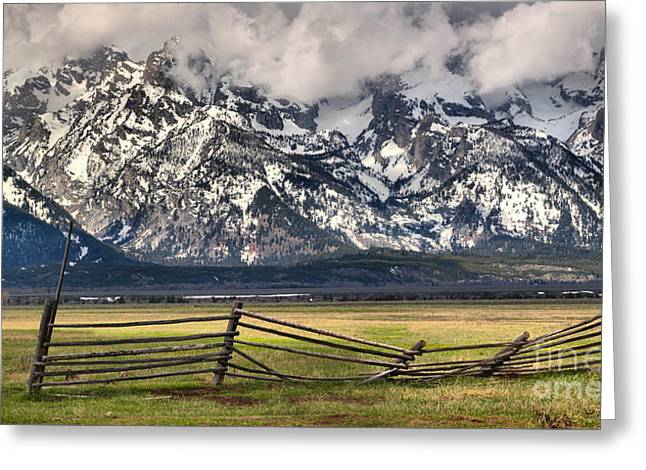 Mountain Fence Greeting Card