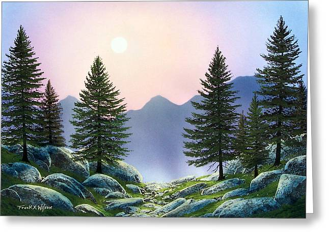 Mountain Firs Greeting Card by Frank Wilson