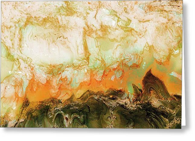 Mountain Flames II Greeting Card by Paul Tokarski