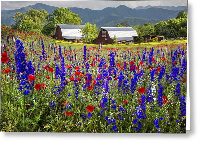Mountain Flowers Greeting Card